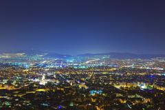 Athens in Greece at night Stock Photos