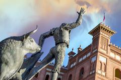 plaza de toros de las ventas in madrid - stock photo