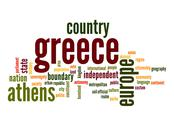 Stock Illustration of greece word cloud