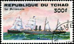 republic of chad - circa 1984: a stamp printed in republic of chad shows the  - stock photo