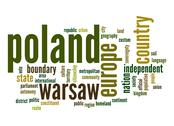 Stock Illustration of poland word cloud
