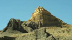 Badlands Wilderness Landscape Primal Savage and Surreal Panning Shot Stock Footage