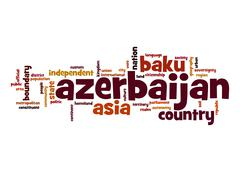 Stock Illustration of azerbaijan word cloud