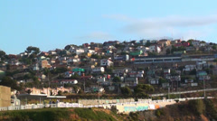 0737 Typical hills in Valparaiso Chile Stock Footage