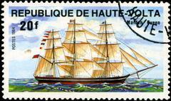 republic of upper volta- circa 1984: a stamp printed in republic of upper vol - stock photo