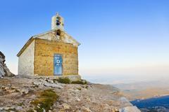 Old church in mountains, Biokovo, Croatia - stock photo
