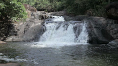 Nangrong Waterfall in Thailand Stock Footage