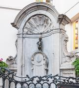brussels - july 09: manneken pis statue and fountain on july 09, 2011 in brus - stock photo
