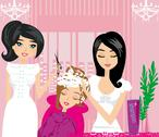 Stock Illustration of relax at the hairdresser