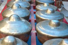 gamelan is a traditional musical instrument of indonesia - stock photo