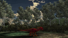 Dragon animation on nature background Stock Footage