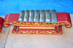 a traditional musical instrument of indonesia gamelan - stock photo