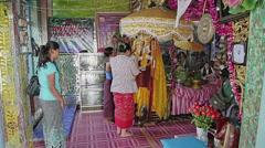 Believers in pilgrimage in Popa Taungkalat monastery Stock Footage