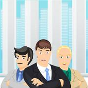Business people - stock illustration