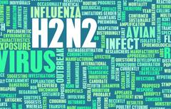h2n2 - stock illustration