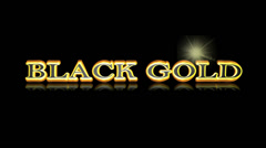 Black gold 3D title animation for videos HD Stock Footage