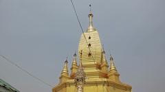 Mount Popa monastery pagoda Stock Footage