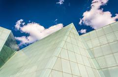 clouds over the brown center at the maryland institute college of art in balt - stock photo