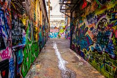 graffiti alley, in baltimore, maryland. - stock photo