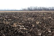 Stock Photo of newly plowed field ready for new crops