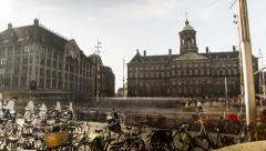 FullHD Amsterdam City Hall Square Day Stock Footage