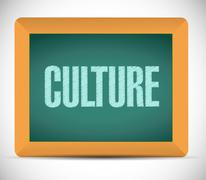 culture message on a board. illustration - stock illustration
