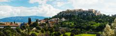 overview of acropolis in athens, greece - stock photo