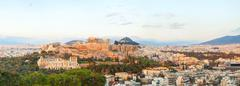 acropolis in the morning after sunrise - stock photo