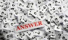 Question answer Stock Photos