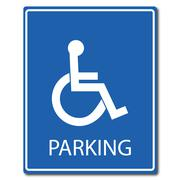Stock Illustration of handicap parking sign