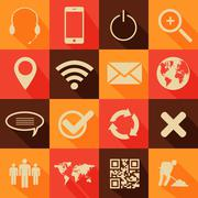 Stock Illustration of retro style web and mobile icons