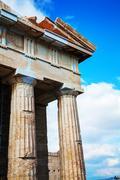 Parthenon at acropolis in athens, greece Stock Photos