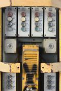 Stock Photo of railway control panel