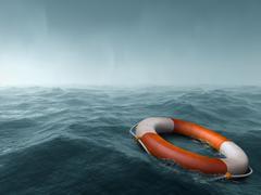 Lost at sea Stock Illustration