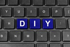 Diy or do it yourself word on keyboard Stock Illustration