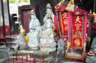 Stock Photo of Street shrine for Guanyin, the Goddess of Mercy in Hong Kong