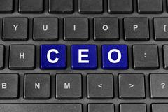 ceo or chief executive officer word on keyboard - stock illustration