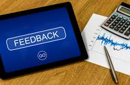 Stock Photo of feedback on digital tablet