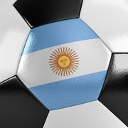 argentina soccer ball - stock illustration