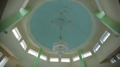 Overall plan inside the mosque Stock Footage