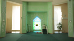 Hall of the mosque in focus Stock Footage