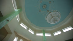 Panorama ceiling of the mosque Stock Footage
