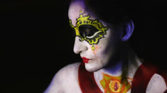 Body painting Stock Footage