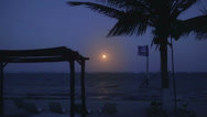 Stock Video Footage of Moon on caribbean sea