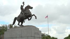 Major General Andrew Jackson Statue in NOLA - stock footage