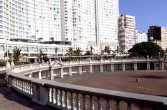 hotel overlooking amphitheatre on durban's beachfront golden mile - stock photo