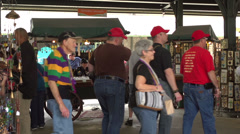 Farmers market in French Quarter during Mardi Gras Stock Footage