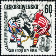 czechoslovakia - circa 1972: a stamp printed in the czechoslovakia, dedicated - stock photo