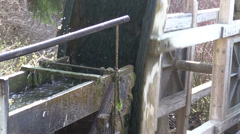 Watermill and  water chute Stock Footage