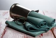 Stock Photo of green cloth napkins
